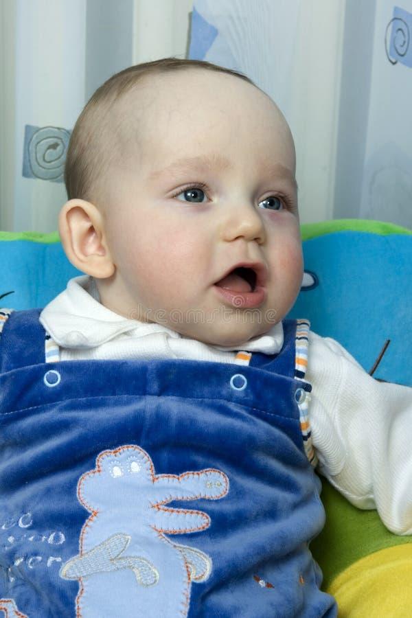 Download Baby stock image. Image of sitting, gaze, tiny, curiosity - 2321579