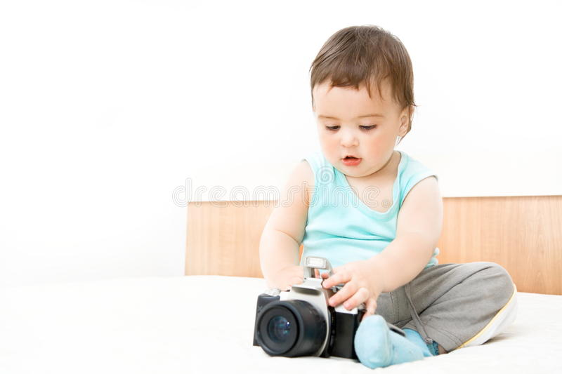 Download Baby stock image. Image of baby, toddler, equipment, camera - 28137885