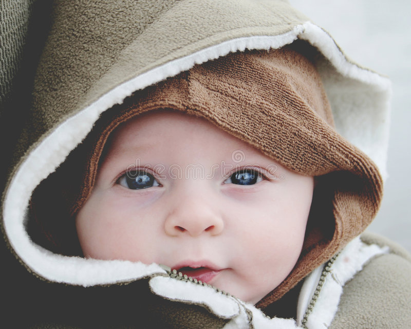 Download Baby stock image. Image of water, cold, hood, eyes, baby - 451791