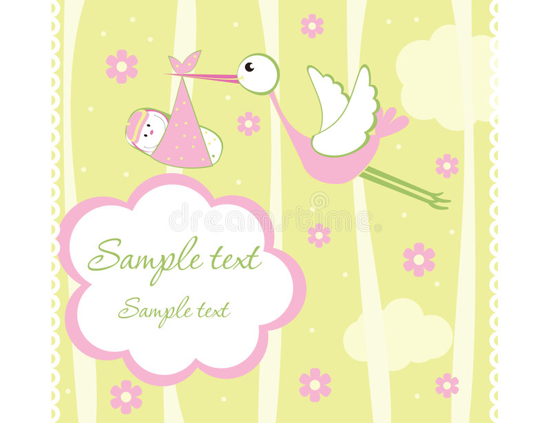 Download Baby stock vector. Image of congratulate, bird, brother - 8578010