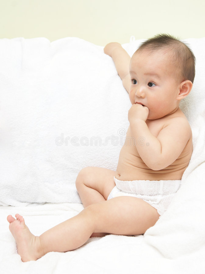 Download Baby stock image. Image of clean, human, funny, back, grimace - 8793299