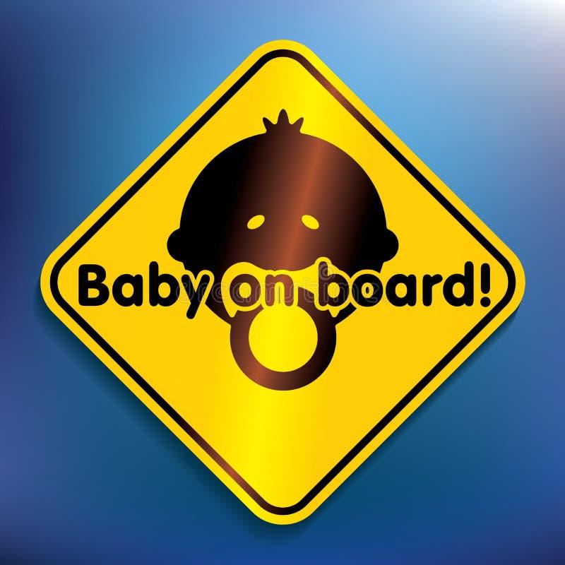 Baby aan boord van sticker stock illustratie