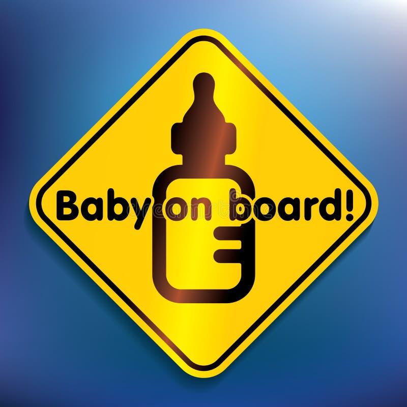 Baby aan boord van sticker vector illustratie