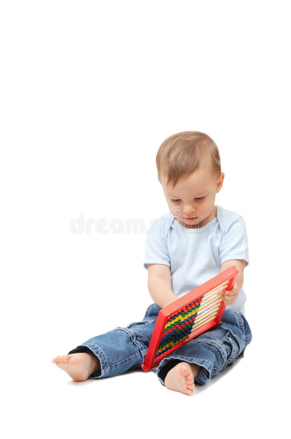Download Baby with abacus stock image. Image of caucasian, cute - 7481103