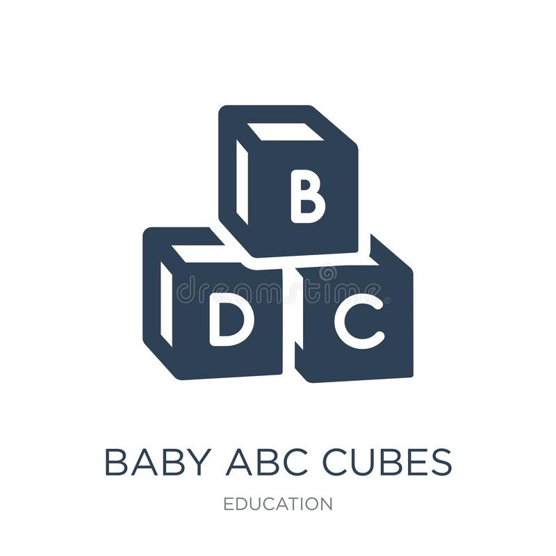 baby abc cubes icon in trendy design style. baby abc cubes icon isolated on white background. baby abc cubes vector icon simple vector illustration
