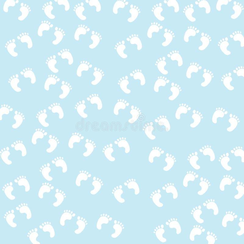 Baby-Abdruck-nahtloses Muster stock abbildung