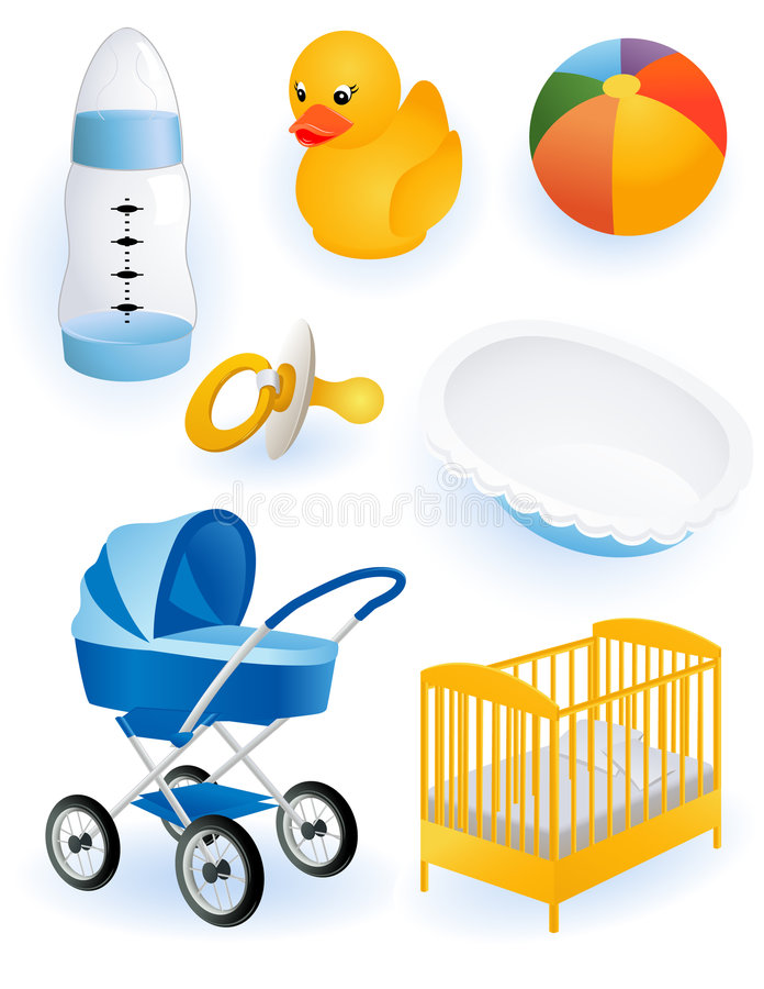Download Baby accessories stock vector. Illustration of isolated - 7442950