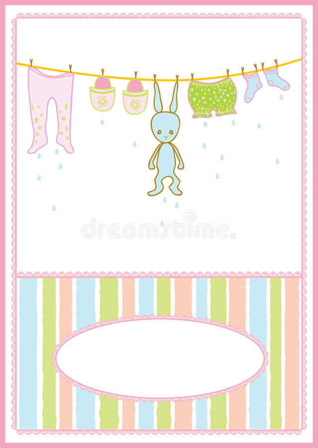 Baby accessories card stock illustration