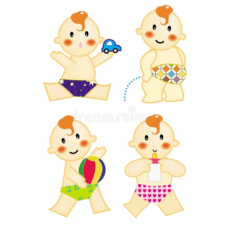 Download Baby action 3 stock vector. Illustration of expression - 3453473