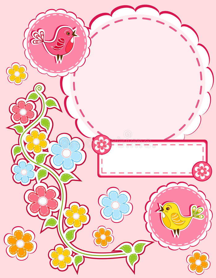 Download Baby album page. stock vector. Image of congratulation - 25306873