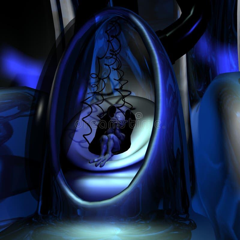Baby Alien royalty free illustration