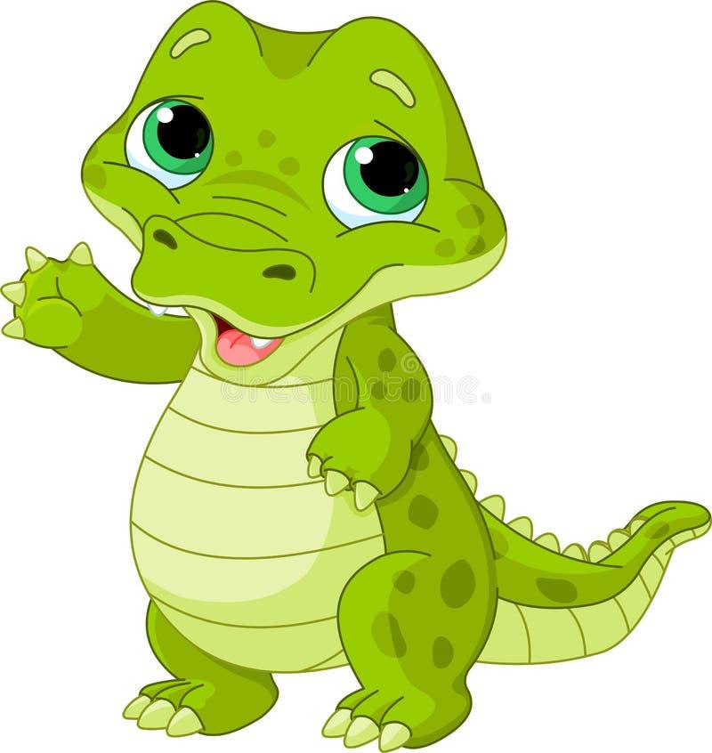 Baby alligator vector illustration