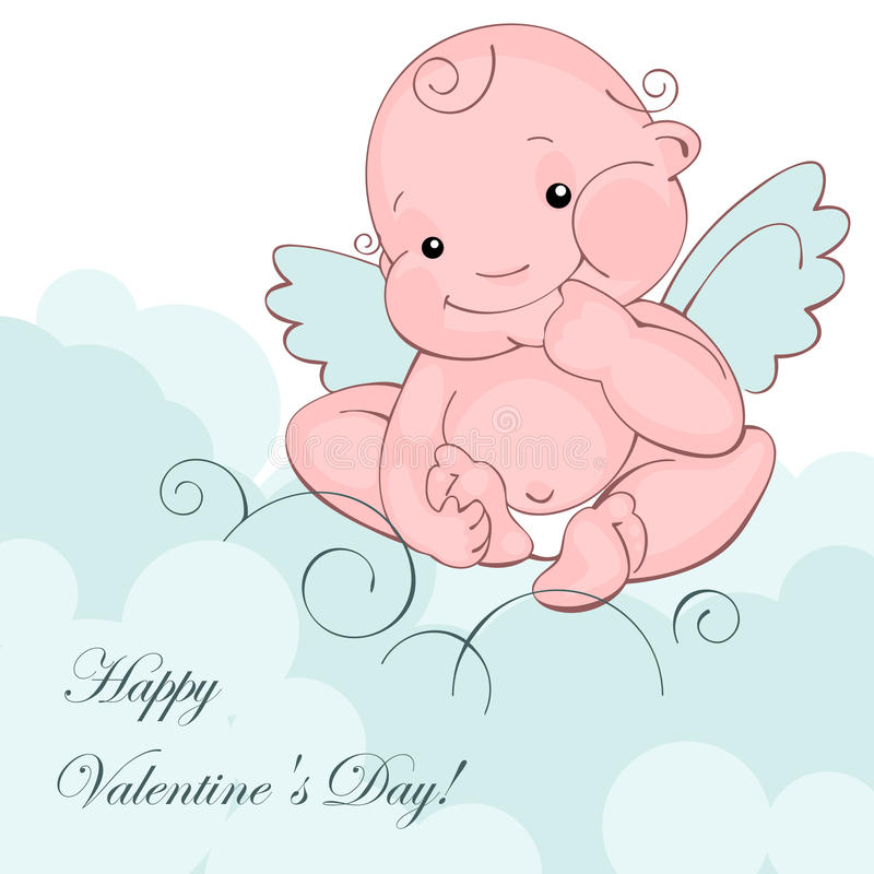 Download Baby angel on a blue cloud stock vector. Image of holiday - 22976675