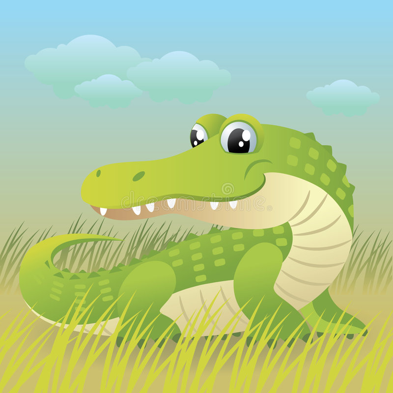 Baby Animal collection: Crocodile stock illustration