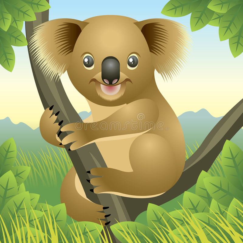 Baby Animal collection: Koala stock illustration