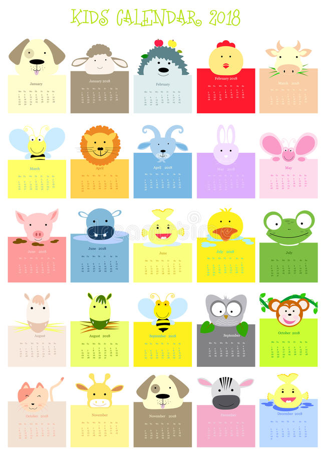 download baby animal face calendar stock illustration illustration of face 93387923