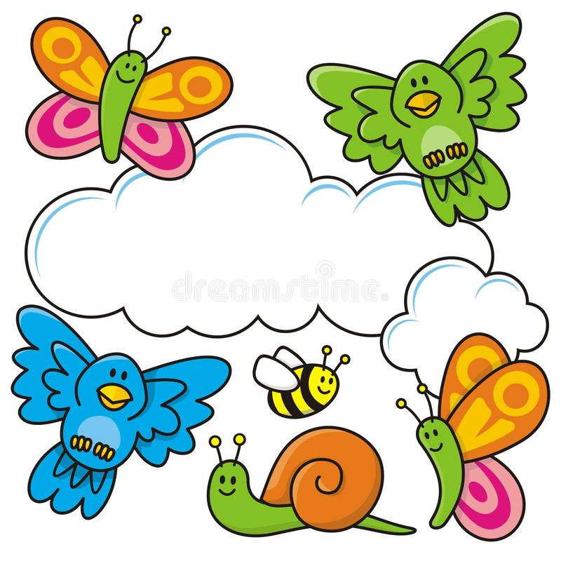 Download Baby animals stock vector. Illustration of vector, flying - 14558906
