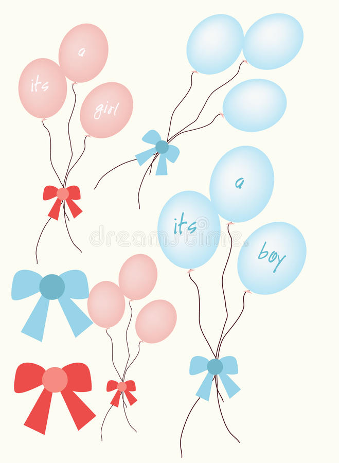 Baby announcement balloons