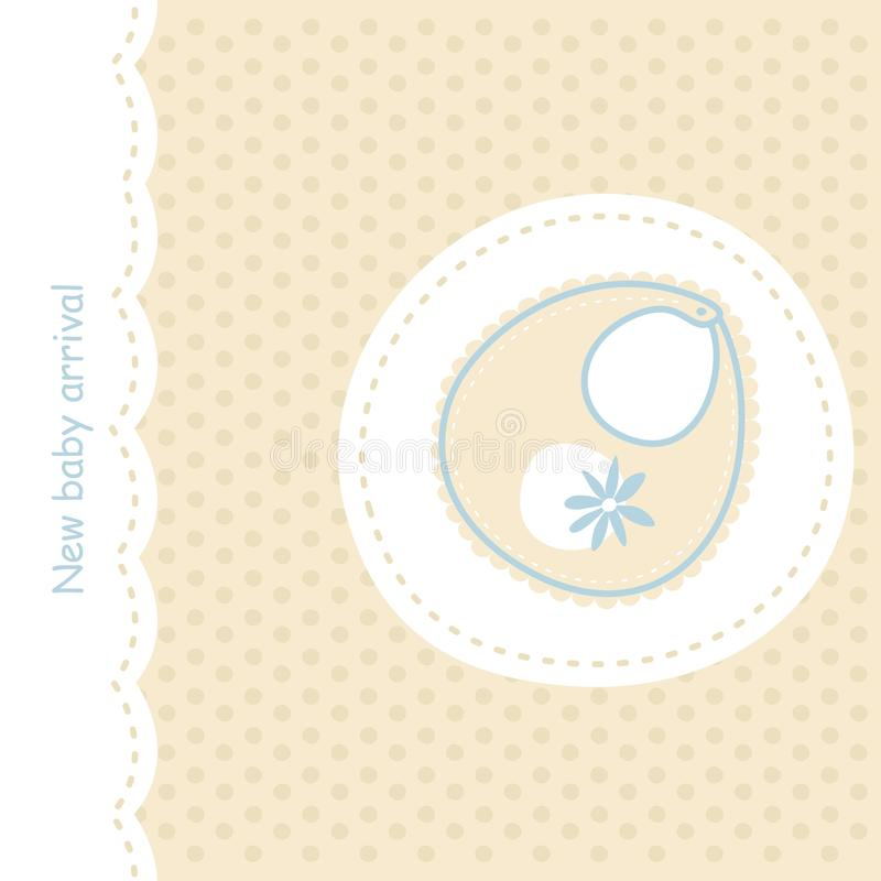 Download Baby announcement with bib stock vector. Image of cute - 18919748