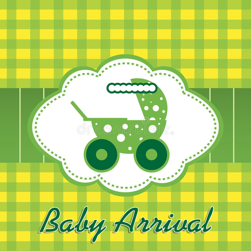 Download Baby arrival stock vector. Image of daughter, green, birth - 22818813