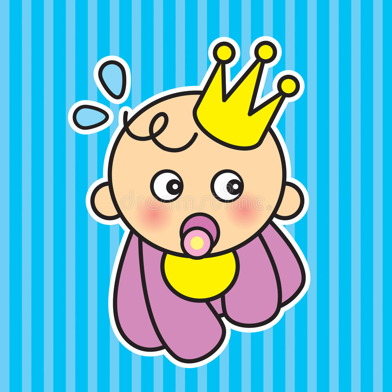 Baby arrival. A cute baby arrival card royalty free illustration