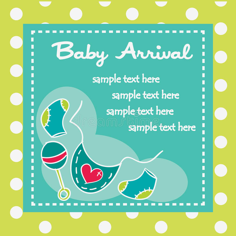 Baby Arrival For Boys Stock Photography