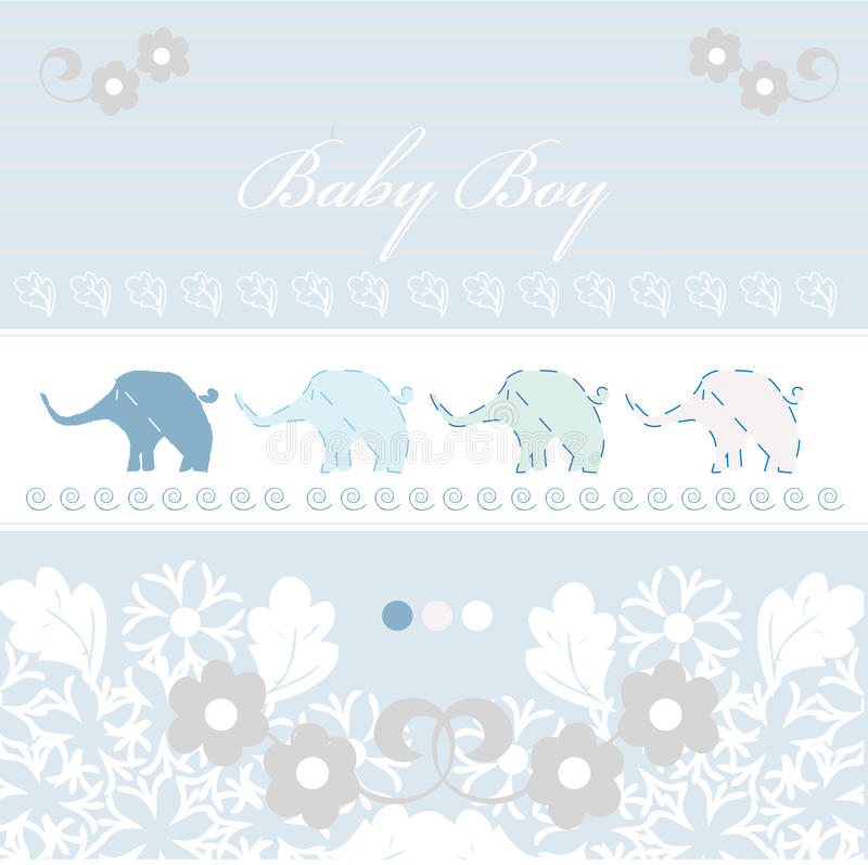 Download Baby arrival card stock vector. Image of congratulations - 16427631