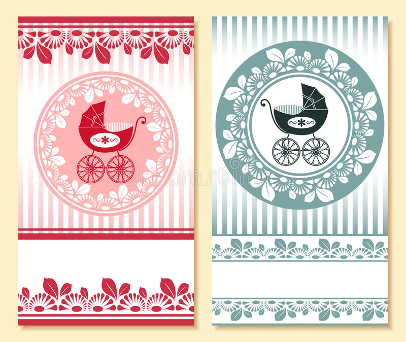Baby arrival card royalty free illustration