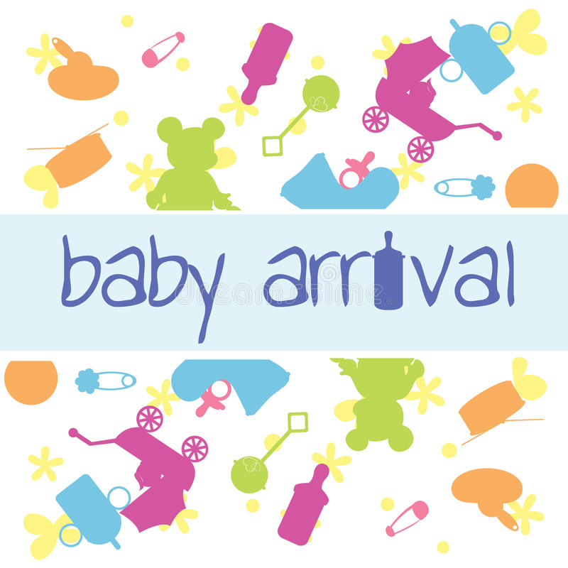 Download Baby arrival card stock vector. Image of elements, newborn - 22339169