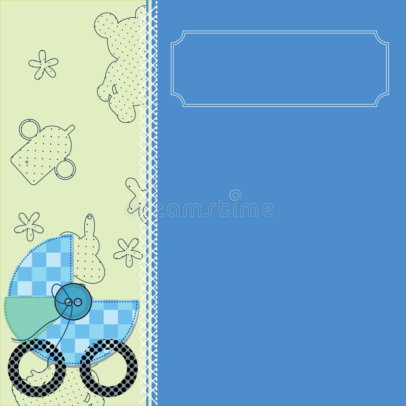 Download Baby Arrival Card Stock Image - Image: 22339171