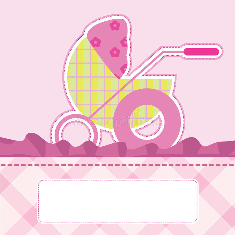 Download Baby arrival card stock illustration. Image of birth - 22465884