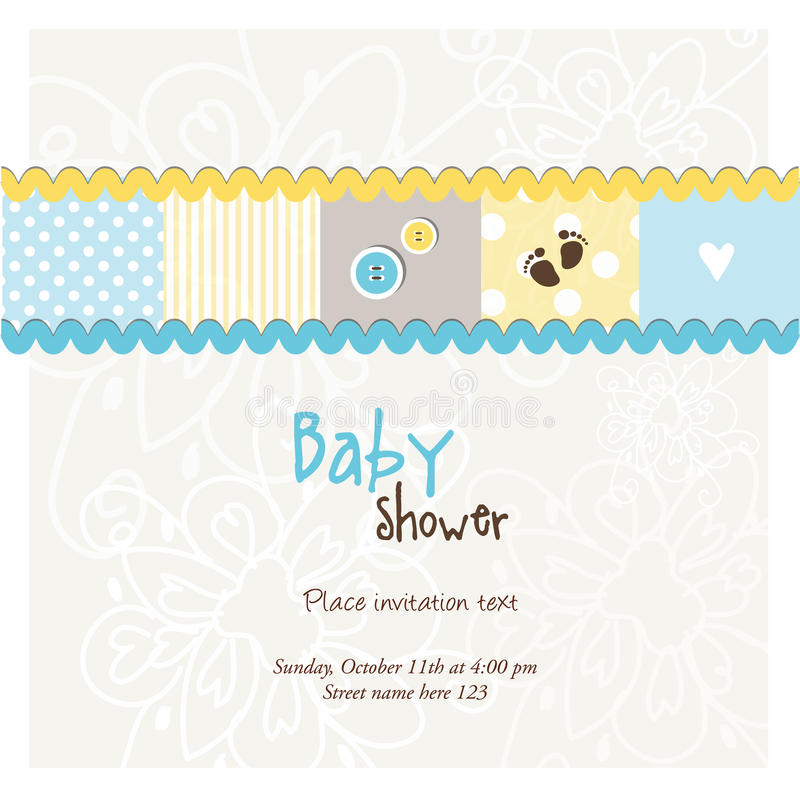 Charming Download Baby Arrival Card   Baby Shower Card Stock Vector   Illustration  Of Announcement, Flower
