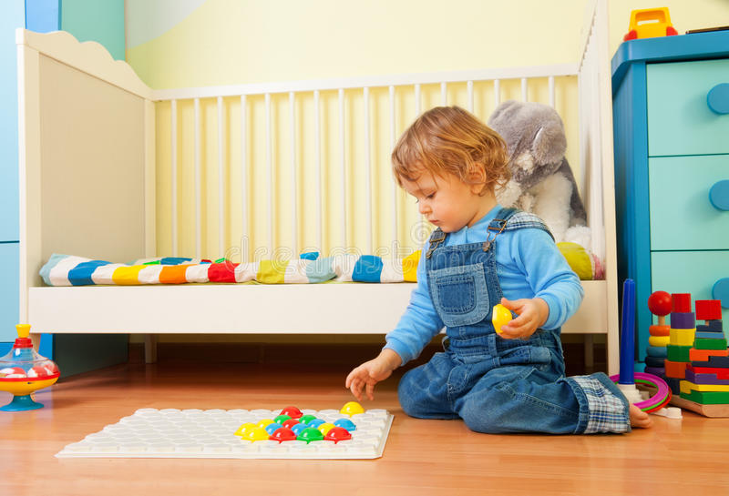 Download Baby assemble a mosaic stock photo. Image of lifestyle - 23509032