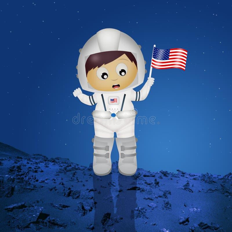 Baby astronaut vector illustration