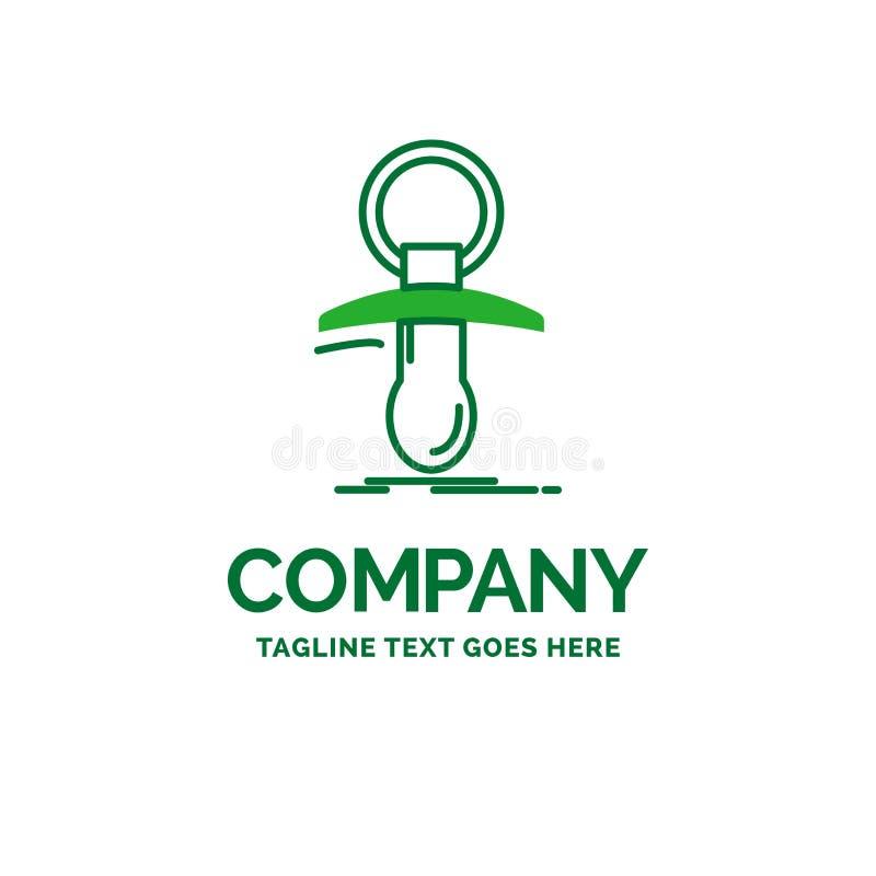 Baby, Attrappe, Neuer, Nippel, noob flache Geschäfts-Logoschablone lizenzfreie abbildung