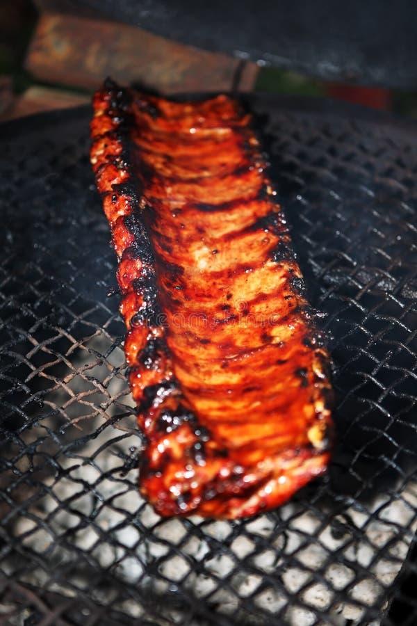 Baby back ribs stock image