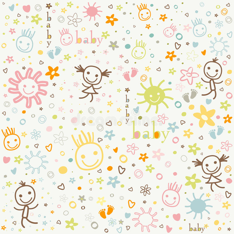 Baby background vector illustration