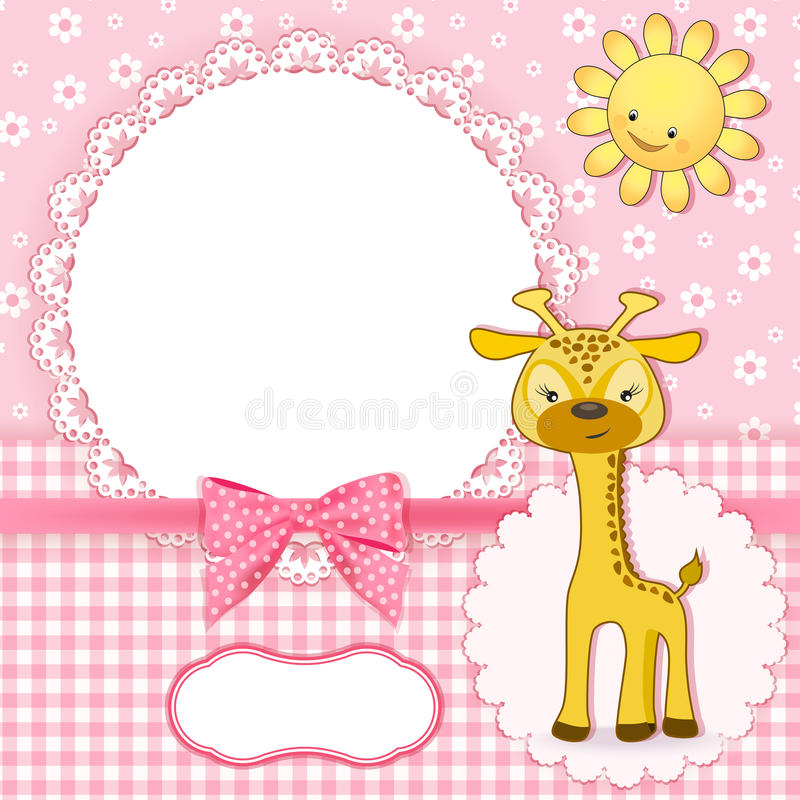 Baby background with frame royalty free illustration