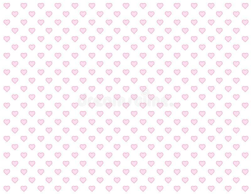 baby background hearts pink seamless иллюстрация вектора