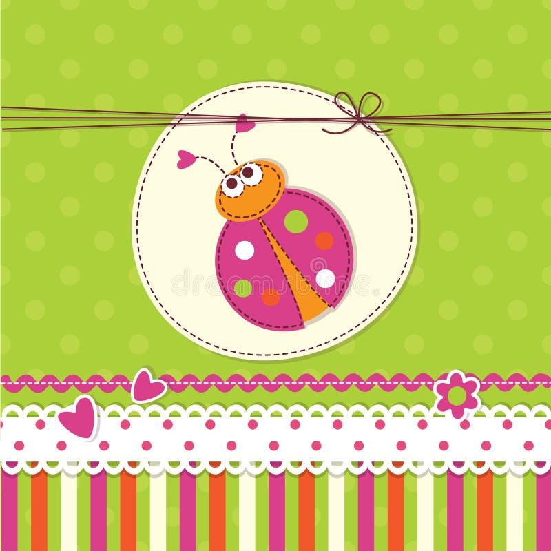Baby background with ladybug royalty free illustration
