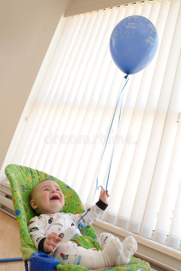 Download Baby with Balloon stock image. Image of girl, caucasian - 28974379