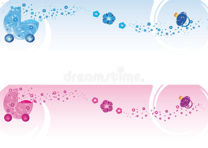 Baby banners stock illustration