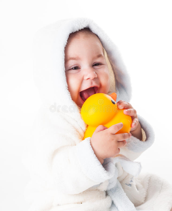 Download Baby after bath stock image. Image of duck, lifestyle - 26624501