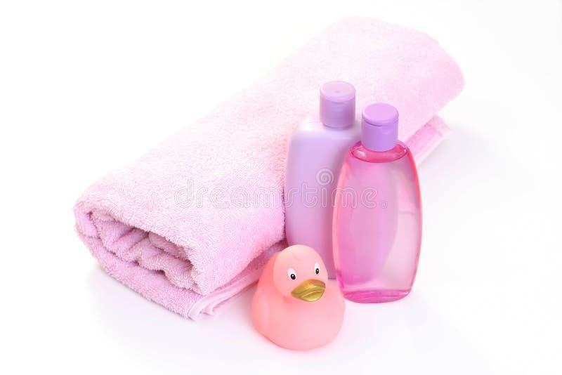 Baby bath accessories stock photo