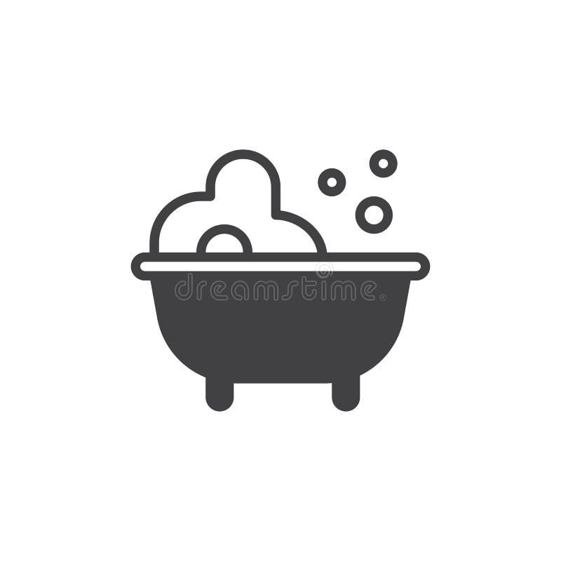 Baby bath icon vector royalty free illustration