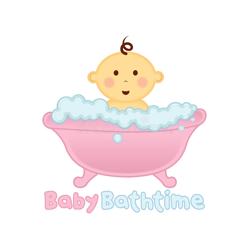 Baby Bath Time Logo Template, Baby Bathing Logo, Baby Shower Stock ...