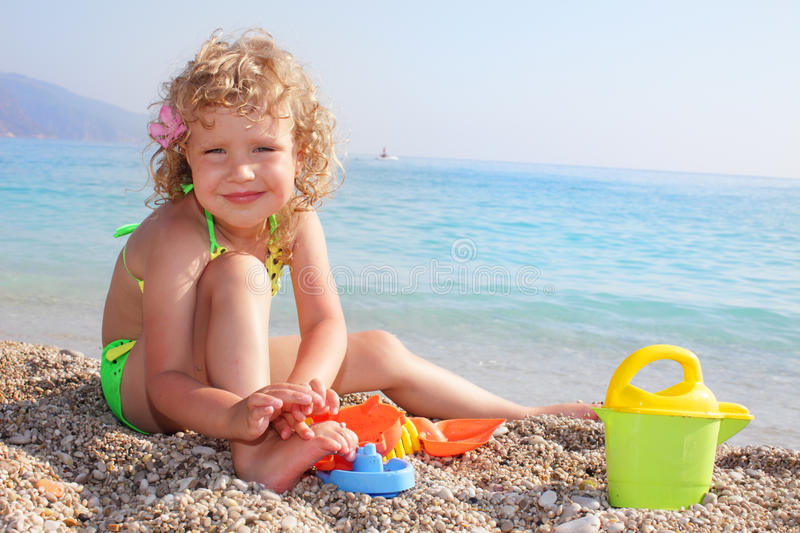 Download Baby on the beach stock photo. Image of sunlight, water - 14861464