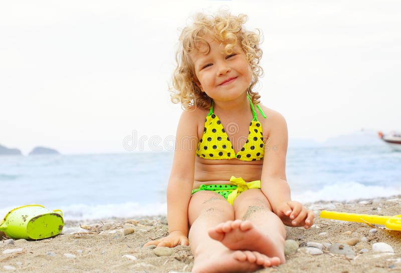 Download Baby on the beach stock image. Image of sunlight, water - 14861667