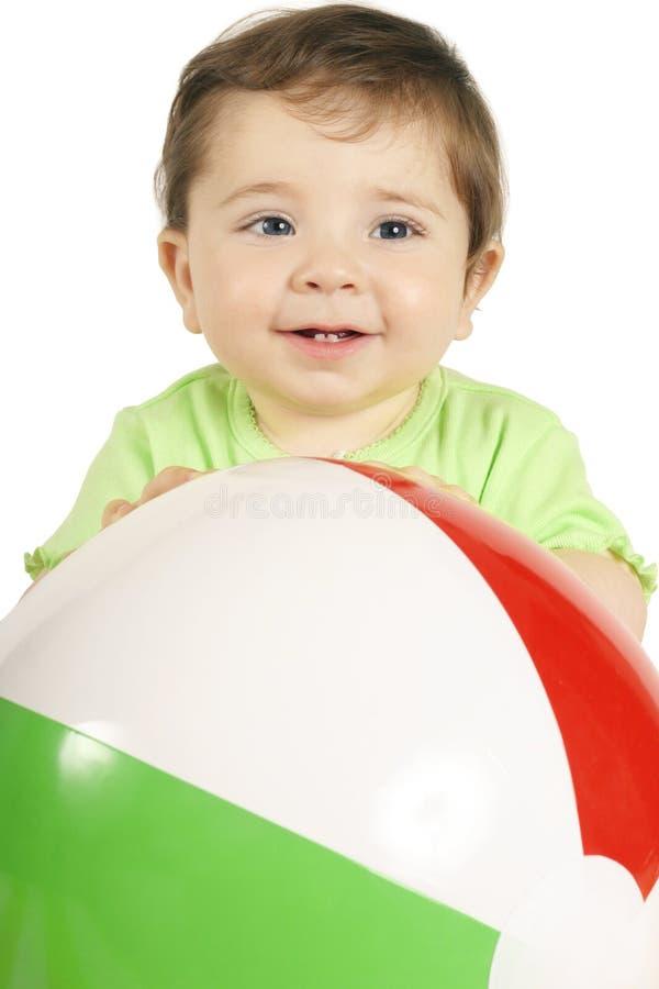 Baby and Beach Ball