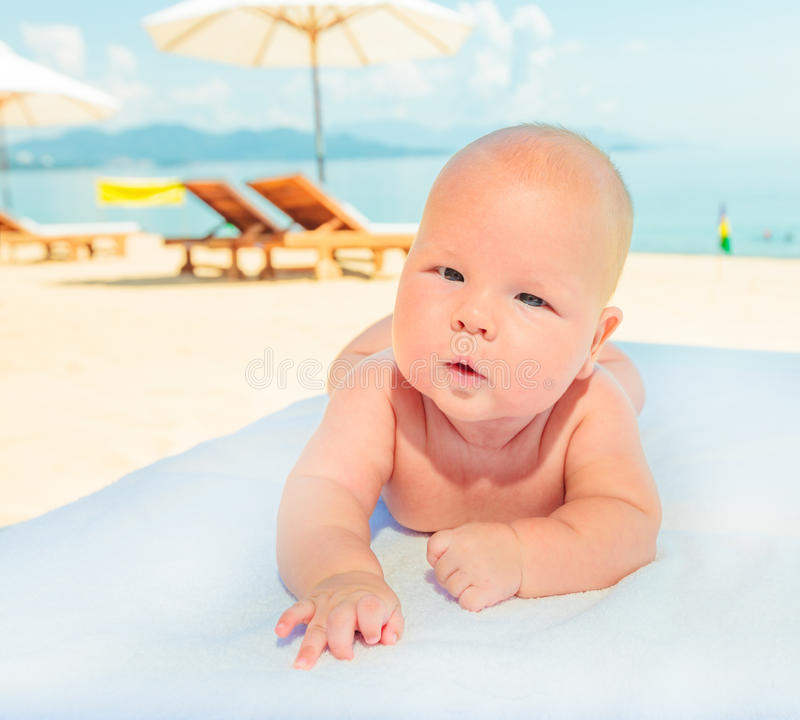 Download Baby on the beach stock image. Image of beach, relax - 33950027